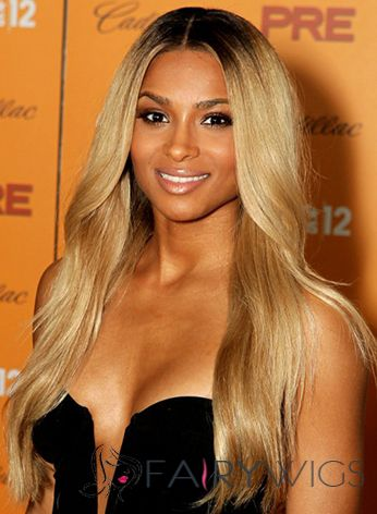 Gorgeous Long Wavy Blonde African American Full Lace Wigs for Women