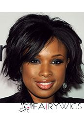 Short Wavy Black African American Full Lace Wigs for Women