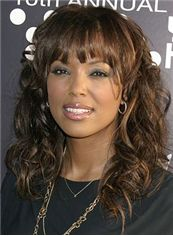 Affordable Medium Wavy Brown African American Wigs for Women