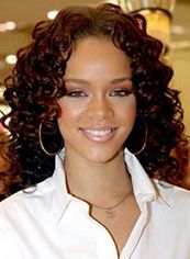 Medium Wavy Brown African American Lace Front Wigs for Women
