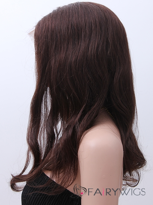 Marvelous Wavy Medium Black African American Full Lace Wigs for Women