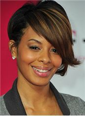 Sparkle Short Wavy Sepia African American Wigs for Women
