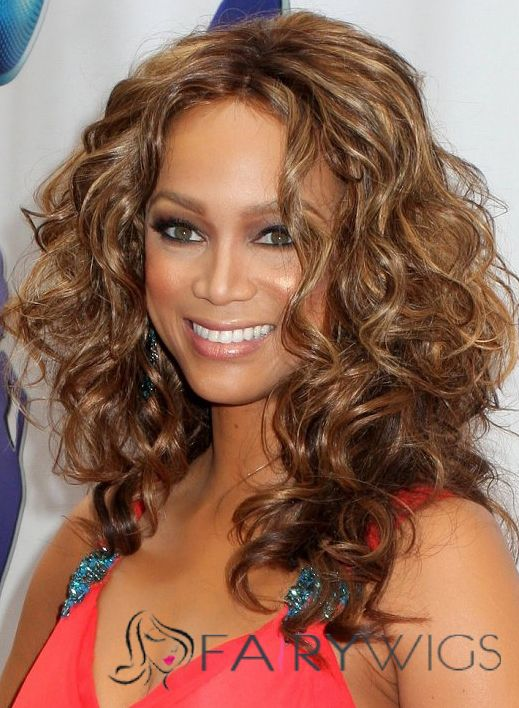 Online Medium Wavy Brown African American Full Lace Wigs for Women