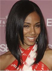 Multi-function Medium Straight Sepia African American Full Lace Wigs for Women