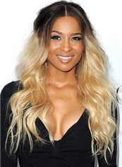 Brazil Long Wavy Blonde African American Full Lace Wigs for Women