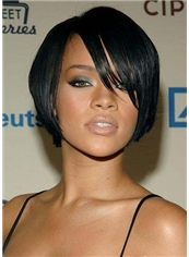 Graceful Short Straight Black African American Capless Wigs for Women