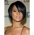 Graceful Short Straight Black African American Capless Wigs for Women