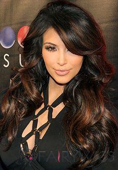 Virgin Brazilian Hair Sepia Long Wigs for Black Women Capless Personalized Wigs for Black Women