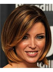 Human Hair Brown Short Wigs Capless Sexy Wigs