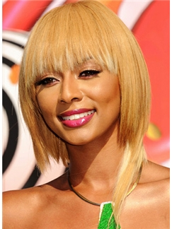 Short Straight Blonde Human Hair Wigs