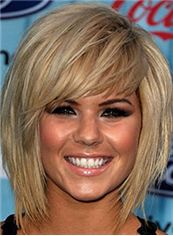 Top Quality Short Straight Blonde True Human Hair Wigs