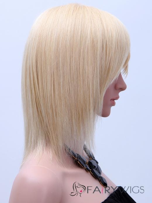 Top Quality Short Straight Blonde True Human Hair Wigs