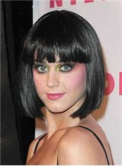Cheap Short Straight Black Synthetic Hair Wigs