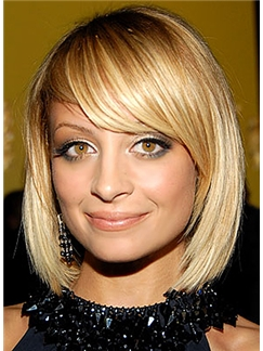 Sweety Short Straight Blonde Human Hair Wigs