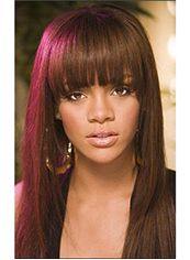 Classic Long Straight Red African American Wigs