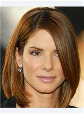 Online Short Straight Brown Human Hair Wigs