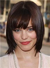 Dream Short Straight Brown Human Hair Wigs