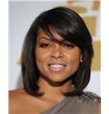 Fantastic Medium Wavy Black True Human Hair Wigs for Black Women