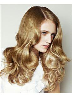 Sweety Full Lace Medium Wavy Blonde Remy Hair Wig