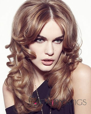 Gracefull Full Lace Medium Wavy Blonde Remy Hair Wig