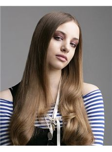 Wavy Brown Fantastic Full Lace Long Remy Hair Wig