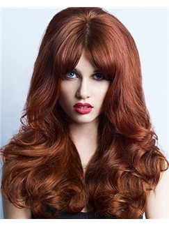 Mysterious Full Lace Medium Wavy Brown Remy Hair Wig
