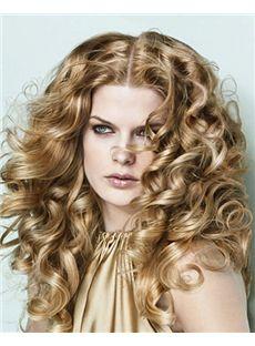 Wavy Fabulous Blonde Full Lace Medium Virgin Brazilian Hair Wig