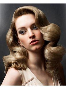 Ingenious Full Lace Medium Wavy Blonde Hair Wig