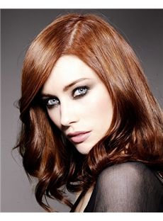 Classic Full Lace Medium Wavy Brown Remy Hair Wig