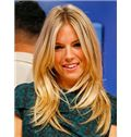 Elegant Full Lace Medium Wavy Blonde Remy Hair Wig