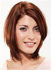 Dream Full Lace Short Straight Red Remy Hair Wig
