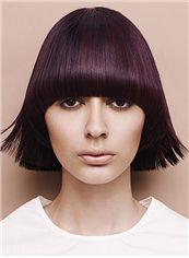 Custom Short Straight Brown Human Hair Wigs 10 Inch