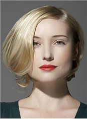 Top-rated Full Lace Short Wavy Blonde Remy Hair Wig
