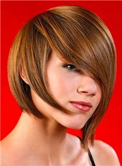 Capless Short Straight Blonde Indian Remy Hair Wig