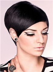 Top-rated Full Lace Short Straight Black Indian Remy Hair Wig
