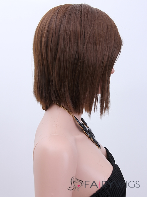 Sweet Lace Front Short Straight Blonde Top Quality High Heated Fiber Hair Wig
