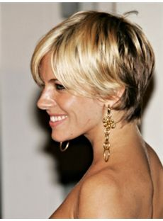 Best Full Lace Short Blonde Straight Indian Remy Hair Wig