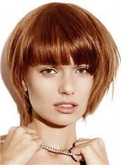 Sparkle Short Straight Blonde Remy Human Hair Wigs 10 Inch