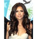 Faddish Lace Front Long Wavy Brown Indian Remy Hair Wig