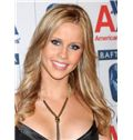 Exquisite Full Lace Long Wavy Blonde Indian Remy Hair Wig