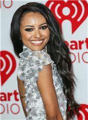 Lustrous Lace Front Long Wavy Black Indian Remy Wigs for Black Women