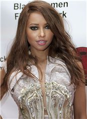 European Style Lace Front Medium Wavy Brown 100% Human Hair Wig