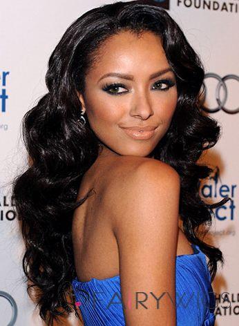 Wholesale Lace Front Long Wavy Black Indian Remy Wigs for Black Women c3fc7e4b85
