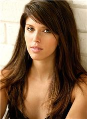 Brazil Capless Long Straight Brown Remy Hair Wig