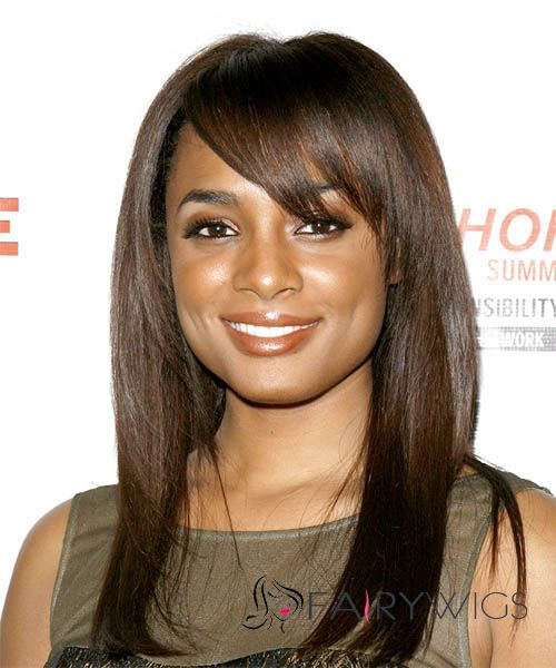 Wholesale Capless Medium Straight Brown Human Hair African American Wigs