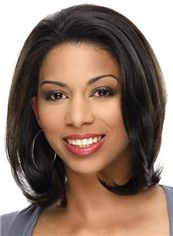 Sparkle Short Wavy Sepia African American Lace Wigs for Women