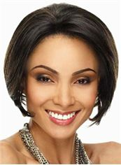 Top-rated Short Straight Sepia African American Lace Wigs for Women