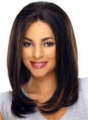 Glitter Medium Wavy Black African American Lace Wigs for Women