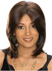 Best Medium Straight Brown African American Lace Wigs for Women