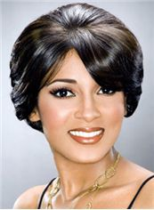 Discount Short Wavy Black African American Wigs for Women 8 Inch